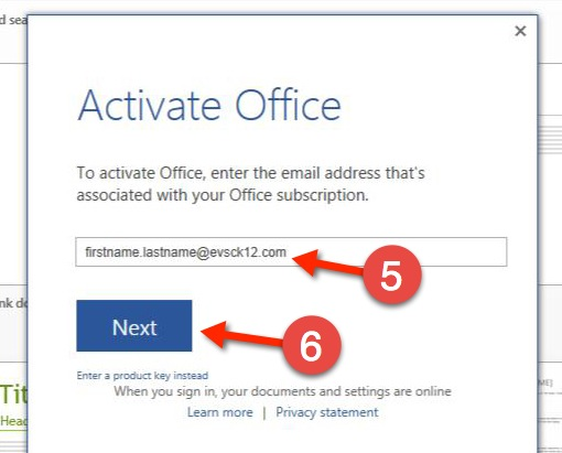 How-to Activate Microsoft Office 2013 - EVSC Students Website