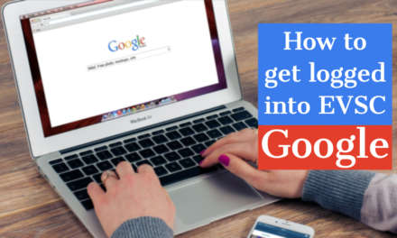 How to get logged into EVSC Google