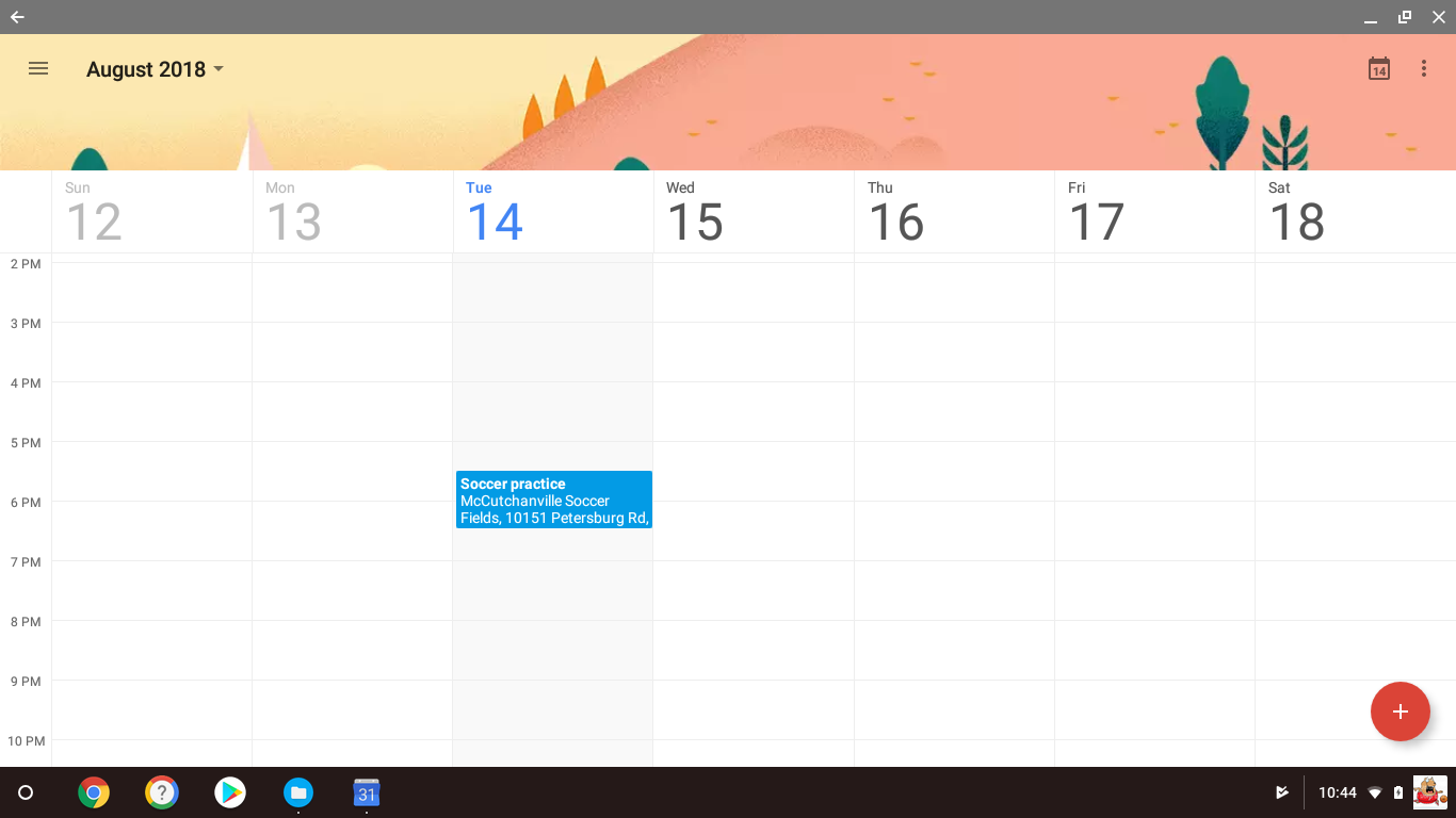 Google Calendar app works automatically offline. No need to go to Settings to make it work.