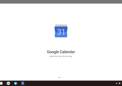 Intro Slide after installing Google Calendar.