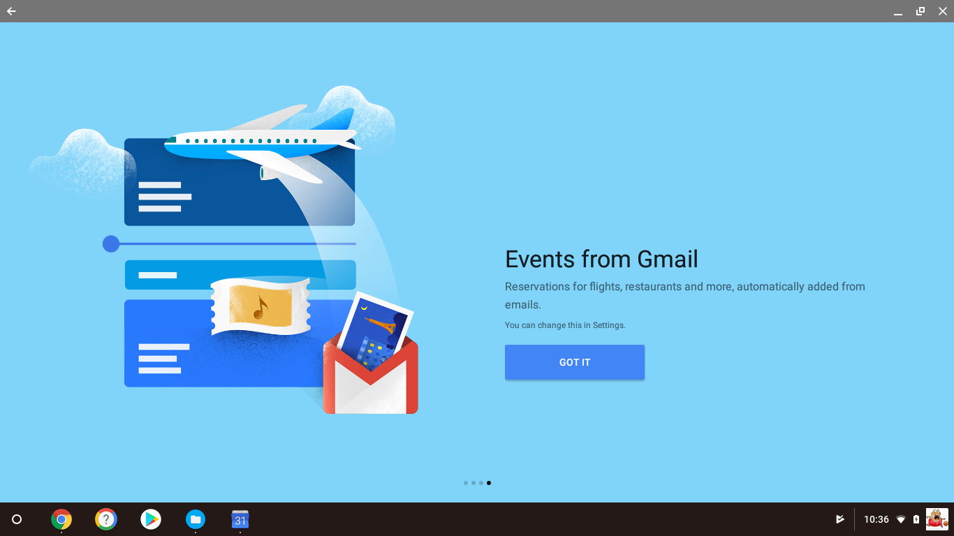 Reservations for flights, restaurants, and more automatically added from emails.