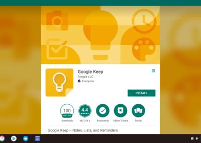 Google Keep Install