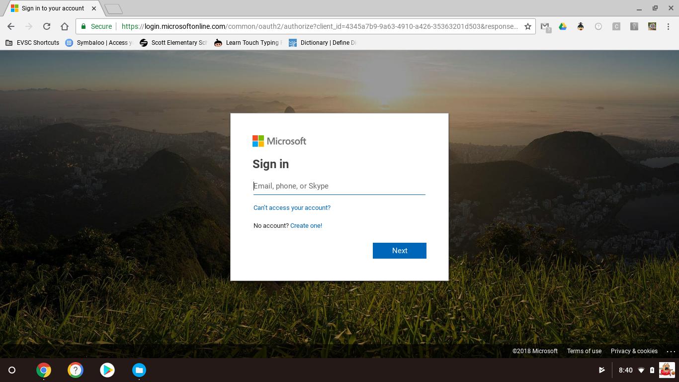 Microsoft Office Online Login Page