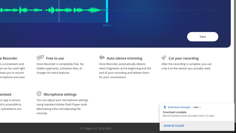 Online Voice Recorder - Download Audio