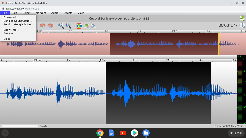 TwistedWave - Download Audio