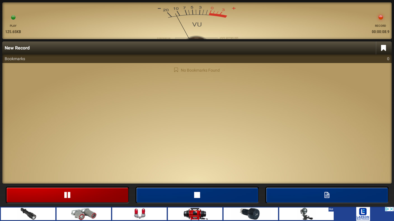 Voice Recorder Pro - Recording Screen