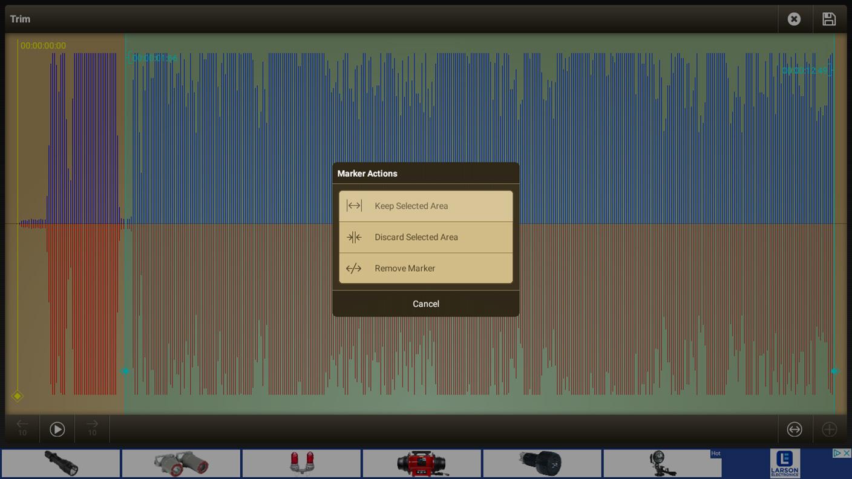 Voice Recorder Pro - Editing Screen
