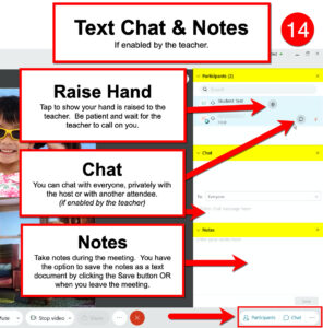 Webex Text Chat and Notes